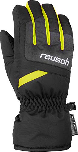 Reusch Kinder Bennet R-TEX XT Junior Handschuh, Black/Black Melange/Saftey Yellow, 6.5