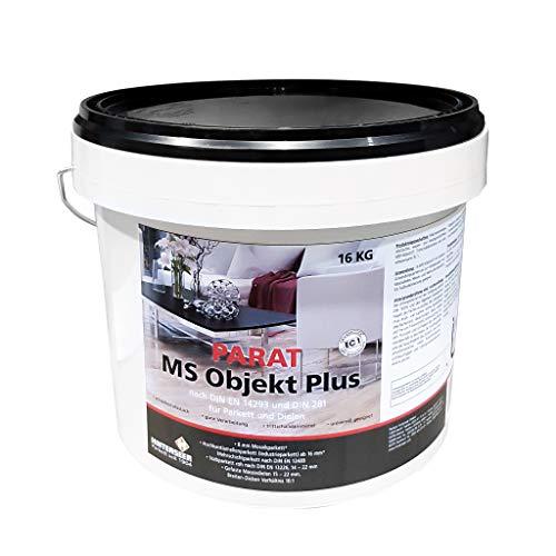 PARAT MS Objekt Plus Parkettkleber 16 kg universell geeignet, schubfest/elastisch trittschalldämmend, f. Massiv- und Mehrschichtparkett