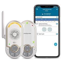 Motorola MBP164CONNECT Audio Baby Monitor - Portable WiFi Smart Intercom and Night Light for Child - 900-Foot Radio Range - 2-Way Talk Communication