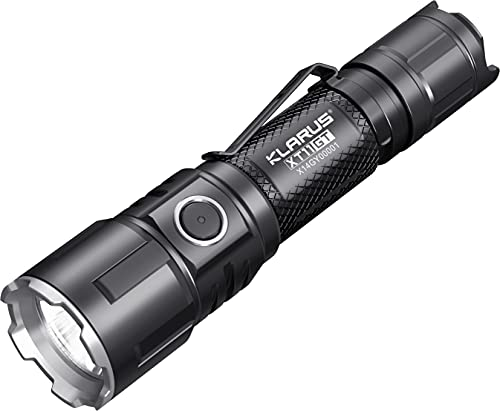 Klarus XT11GT 2000 Lumen wiederaufladbare LED Taschenlampe, CREE XPH35 HD E4 LED Superhelle Taschenlampe für Camping, Wandern
