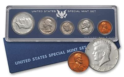1966 P 5 Piece set Proof in original packaging from US mint Proof
