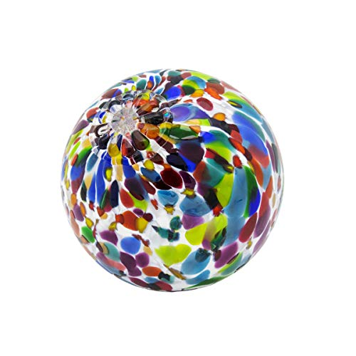 White Magic Mix Pond Floats - Available in 3 inches, 4 inches, 5 inches & 6 inches - Blown Glass - Made in Seattle - Dehanna Jones