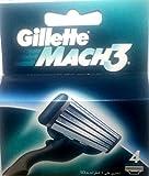 Gíllette Mach 3 Razor Refill Cartridges 4 Count