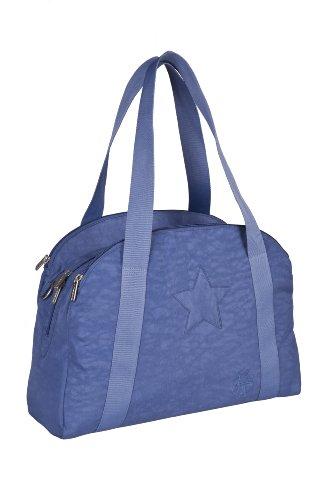 Lässig Casual Porter Bag Star Wickeltasche mit verstellbarem Schultergurt inkl. Wickelzubehör, blue jeans