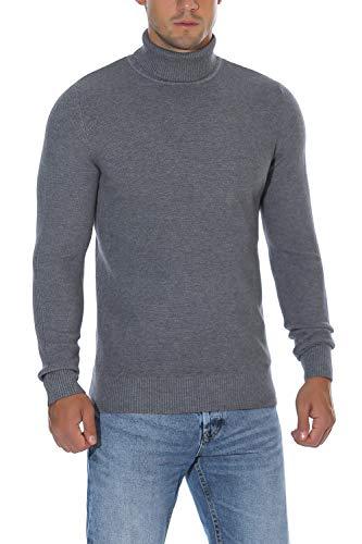 Men Shetland Wool Windproof Zip Sweater
