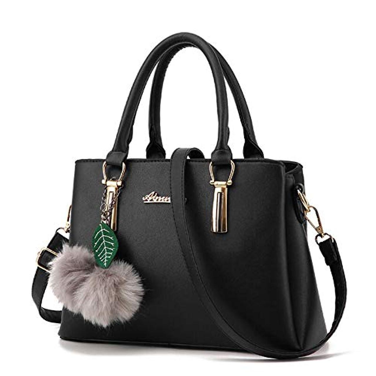 コミット否認するファブリックファッション > レディース > バッグ?財布 > バッグ > ショルダーバッグ/New Women Lady Hairball Leather Shoulder Handbags Crossbody Messenger Bag