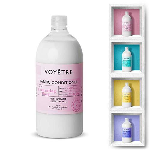 Voyetre Suavizante Concentrado para lavadora – Natural, vegano, fórmula biodegradable [1L – 28 lavados] (Enchanting Rose)
