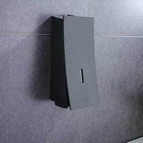 Hygienespender Wand-Seifenspender ABS-Material 2 Implantate Methoden-Schrauben/Klebstoffe 114 * 89 * 229MM 450ML Küchen und Badezimmer (Color : Black, Size : 450ML)