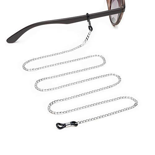 Jalouza Brillenkette in Silber- Anker-Kette als elegantes Brillenband für Sonnenbrille, Lesebrille, Brille