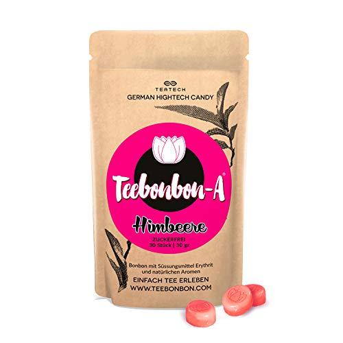 Erythrit Bonbon Teebonbon-Himbeere | Zuckerfrei | mit natürlichem Aroma | Erythritol Candy | KETO-geeignet | 30St / 30gr