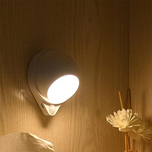 Sensor de movimiento Luz nocturna LED Luz de gabinete Carga USB Interruptor táctil Luz regulable Escalera Pasillo Luz de pared 18650 Batería-warm_white_