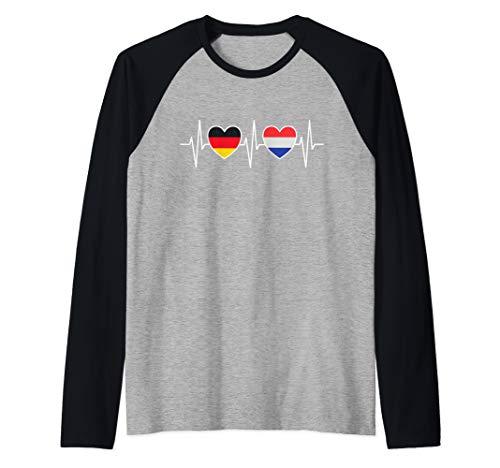 Deutschland und Niederlande Holland Fahne Flaggen Raglan
