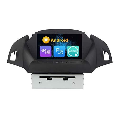 JIBO para Ford KUGA 2013-2018 Android 10 Auto Radio Estéreo Navegacion GPS Cabeza Unidad SatNav IPS Toque Pantalla SWC Bluetooth DVD Multimedia Jugador Vídeo Receptor