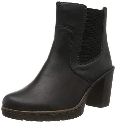 Rieker Damen Y2574 Stiefeletten, Schwarz (schwarz/schwarz 00), 38 EU