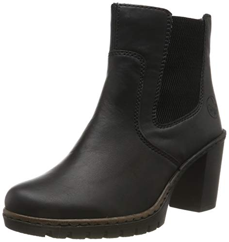 Rieker Damen Y2574 Stiefeletten, Schwarz (schwarz/schwarz 00), 39 EU