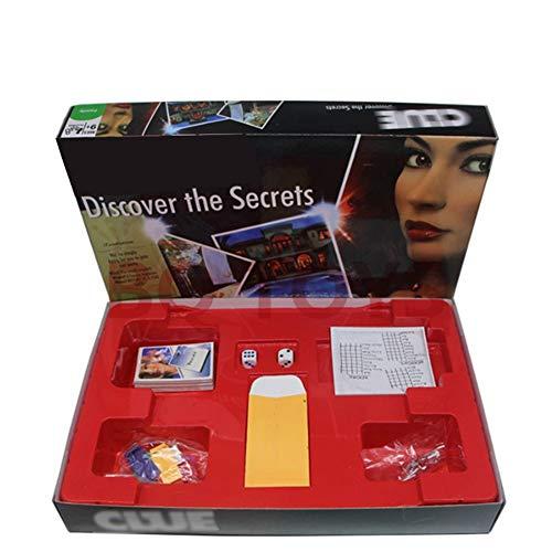 クルードゲーム探偵英語カードゲーム、ボードゲーム3-6クラシックミステリー推理ゲーム