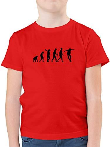 Evolution Kind - Skateboard Evolution Ollie - 128 (7/8 Jahre) - Rot - Skate+Shirt - F130K - Kinder Tshirts und T-Shirt für Jungen