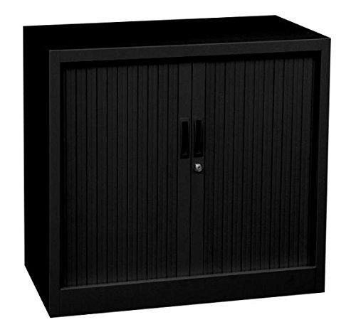 Querrollladenschrank Sideboard 80cm breit Stahl Büro Aktenschrank schwarz 555081(HxBxT) 750 x 800 x 460 mm kompl. montiert und verschweißt