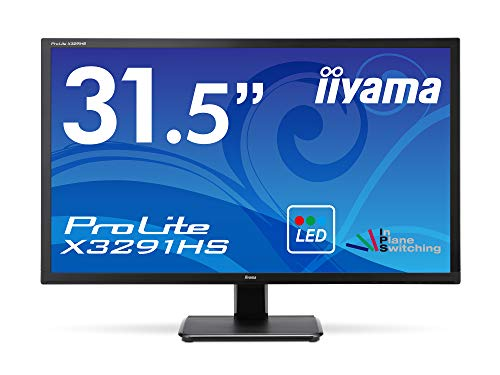 iiyama Prolite X3291HS-B1 80,1cm (32 Zoll) AH-IPS LED-Monitor Full-HD (VGA, DVI, HDMI) schwarz