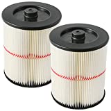 Aiskaer 2 Pack Replacement Filters for Shop Vac Craftsman 9-17816 Filter for Craftsman 17816 Vacuum Filter Wet Dry Air Filter for Craftsman 5 6 8 12 & Larger Gallon Vacuum Cleaner