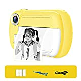 HYLX Cámara de impresión instantánea para niños, niñas Zero Ink Print Photo Selfie Video Cámara Digital con película de Papel, Tarjeta de Memoria 8G, Mini cámara de Aprendizaje para niños de 3 a
