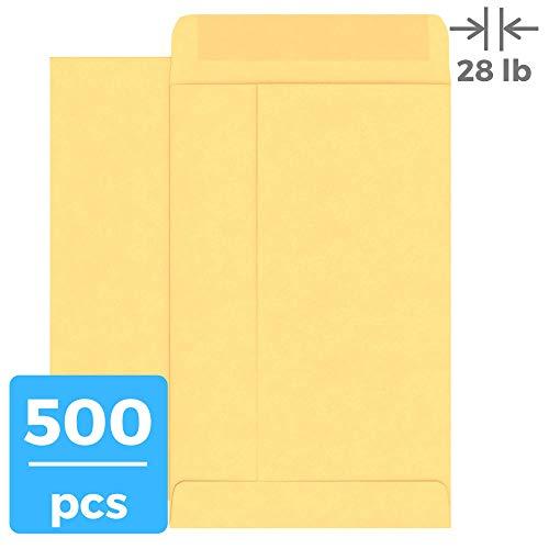 #7 Coin Envelopes,Small Envelopes, Seed Envelopes, Kraft Envelopes (28 lb), 500 Pieces, 6.5 x 3.5, Mini Envelopes for Tip,Business Card, Key, Seed, Tiny Envelopes
