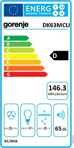 Gorenje DK 63 MCLI Kaminhaube – Breite 60 cm – Elfenbein – Wandhaube - 4