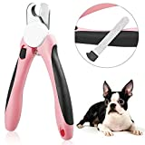 Dog Nail Clippers and Trimmer with Safety Stop and Plug-in Nail File Caseeto
