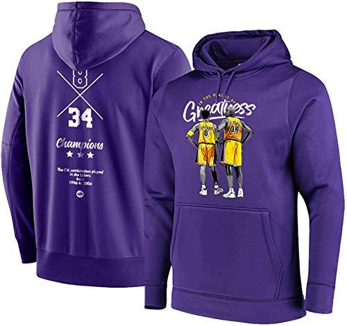 Sudadera de baloncesto unisex de la NBA Shaquille O'Neal 34# suelta, casual con capucha, es la S-3XL – Unisex (color: B, talla: M)