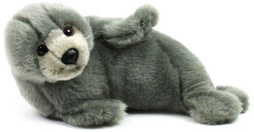 WWF WWF12691 - Plüschfigur Robbe, Liegend 24 cm, grau