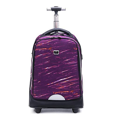Bolsa de viaje con trolley para estudiantes, mochila con ruedas gigantes para subir escaleras, bolsa de reducción de carga multifuncional, adecuada para la universidad, negocios, exteriores-A