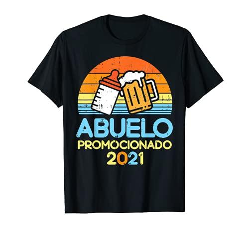 Hombre Abuelo 2021 Cerveza Futuro Anuncio Embarazo Hombre Regalo Camiseta