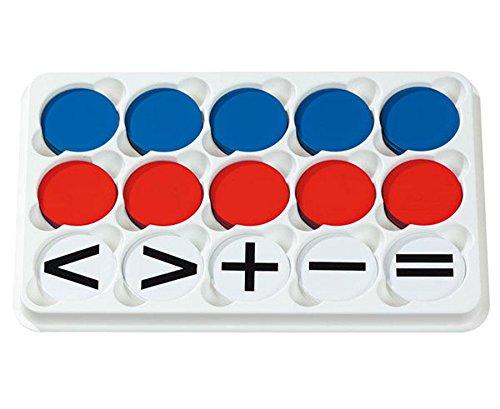 Betzold 85062 - 100 Wendeplättchen im Sortierkasten (magnetisch) - Rechnen Lernen, Mathematik, Rechenhilfe