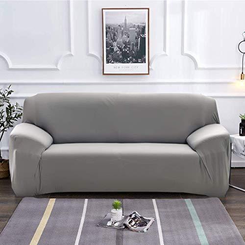 KAIMIRUI Fundas de Sofá Elasticas de 1 2 3 4 Plazas (Regalar 2 Funda de Cojines) Universal Funda Cubre Sofas Ajustables, Antideslizante Protector Cubierta de Muebles