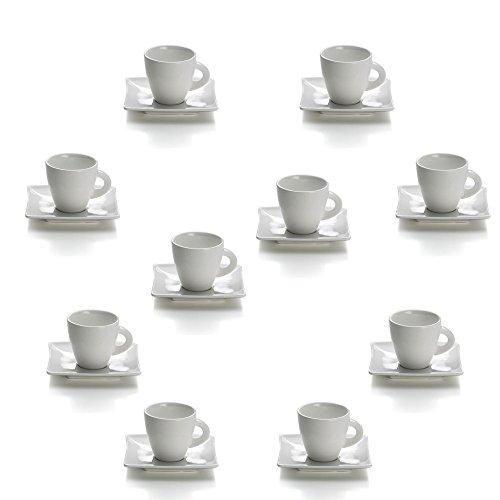 10er SET Espressotasse 80 ml EAST MEETS WEST mit Unterteller/Maxwell & Williams/Kaffeetasse/Tasse