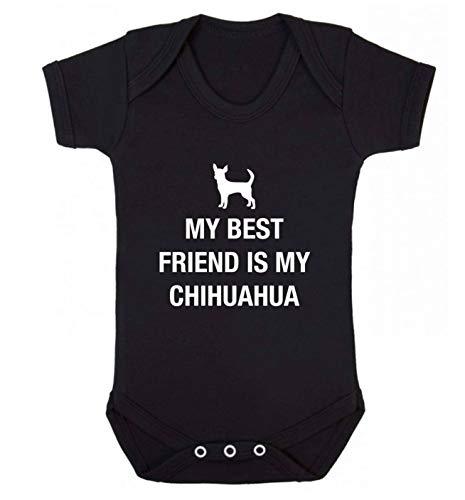 Flox Creative Gilet pour bébé Best Friend Chihuahua - Noir - XS