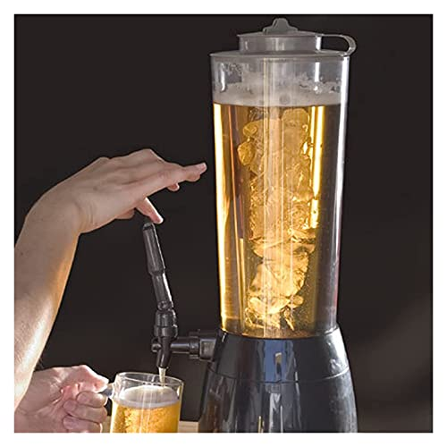 Dispensador de Bebidas Torre de cerveza con carámbanos 2.5L Cerveza Barril Beber bebida Vino Vullo Dispensador de bebidas Vierta la cerveza para fiestas y Gameday, Accesorios para bares en el hogar