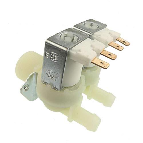 BAHome Electroválvula Doble Recta Tipo Universal para lavadoras LG, Samsung y Candy