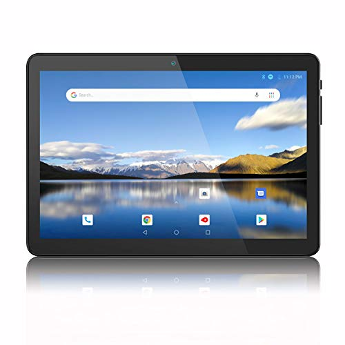 Android Tablet 10 Inch, 3G Phablet, Android 9.0 Tablets, 32GB, GMS Certified, Dual SIM Card Slots and Cameras, WiFi, Bluetooth - Black