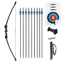 """cheap iMay 45 """"Bow and Arrow Set 9 Arrows 2 Targets for Teenagers Outdoor Archery Gifts for Beginners…"""