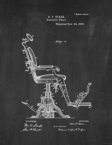 Dentist's Chair Patent Print Chalkboard (11' x 14') M11878