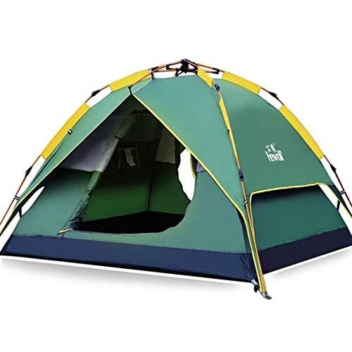HEWOLF Wurfzelt Automatisches Pop Up Zelt 2-3 Personen Camping Zelt Wasserdicht Familienzelt Leichtes Kuppelzelt Doppelschicht Firstzelte Outdoor Zelte mit Tragetasche Armeegrün