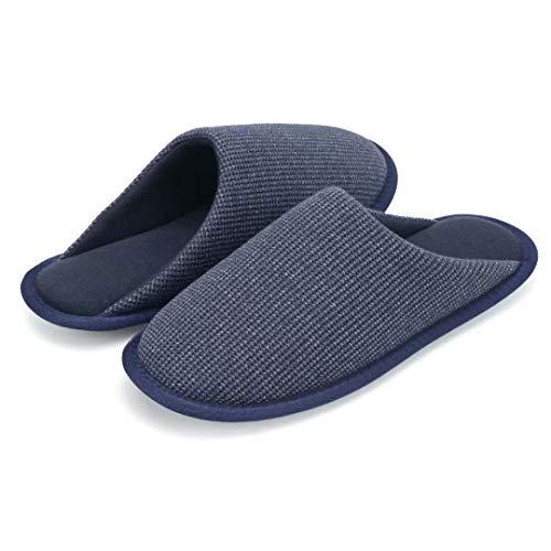 TUOBUQU Slipper Hausschuhe Herren Leicht Bequeme Hause Pantoffeln mit Weich rutschfeste Sohle Indoor Hausschlappen Blau 39/40 S