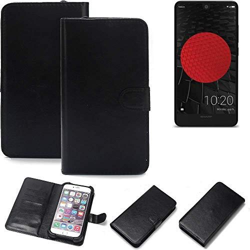 K-S-Trade® Handy Schutz Hülle Für Sharp Aquos C10 Schutzhülle Bumper Schwarz 1x