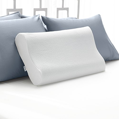 Sleep Innovations Cooling Contour Memory Foam Pillow, Cervical Support Pillow for Sleeping, Made in The USA with 5 - Year Warranty, Queen Pillow