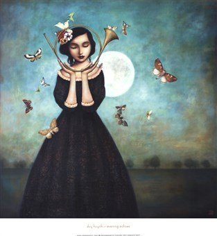 Evening Echoes Art Poster PRINT Duy Huynh 26x28 by The Picture Peddler Inc.
