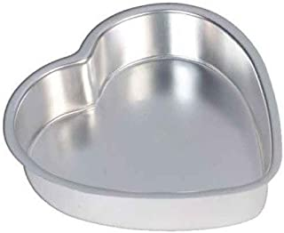 Manveera - Heart Cake Mould/Cake Tin, Heart Cake Mould, Heart Shape Pan, Aluminium, 6 inch Diameter and 2 inch Height for ...