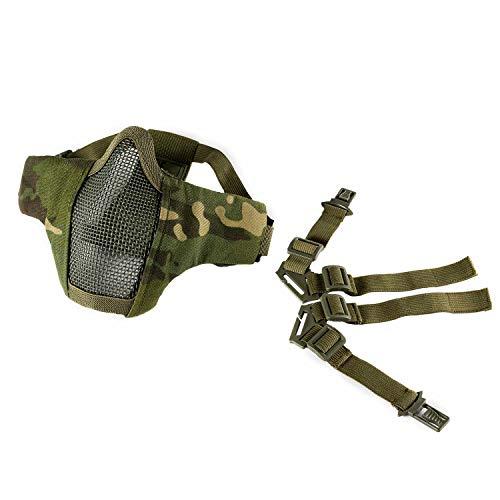 OneTigris 6' Foldable Half Face Mesh Mask Military Style Comfortable...