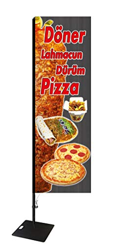 Beachflag Döner & Pizza -ca. 275 cm hoch- SEF513