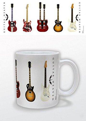 1art1 Gitarren, Guitar Heaven, Classic Hall of Fame Foto-Tasse Kaffeetasse (9x8 cm) Inklusive 1x Überraschungs-Sticker